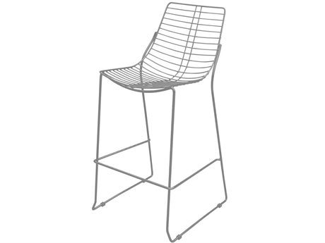 Source Outdoor Furniture Tribeca Steel Metal Bar Stool