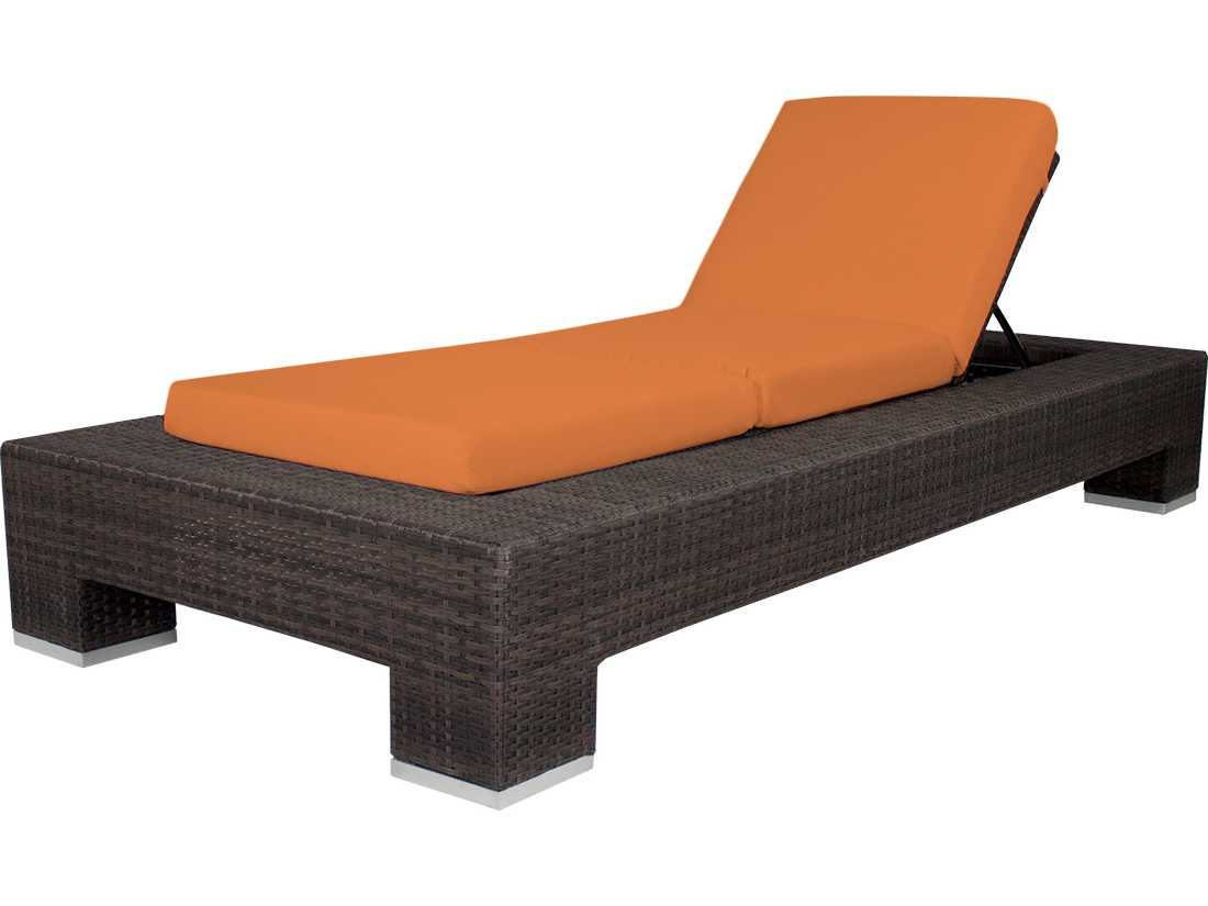 Source outdoor furniture king wicker armless chaise so for Armless chaise longue