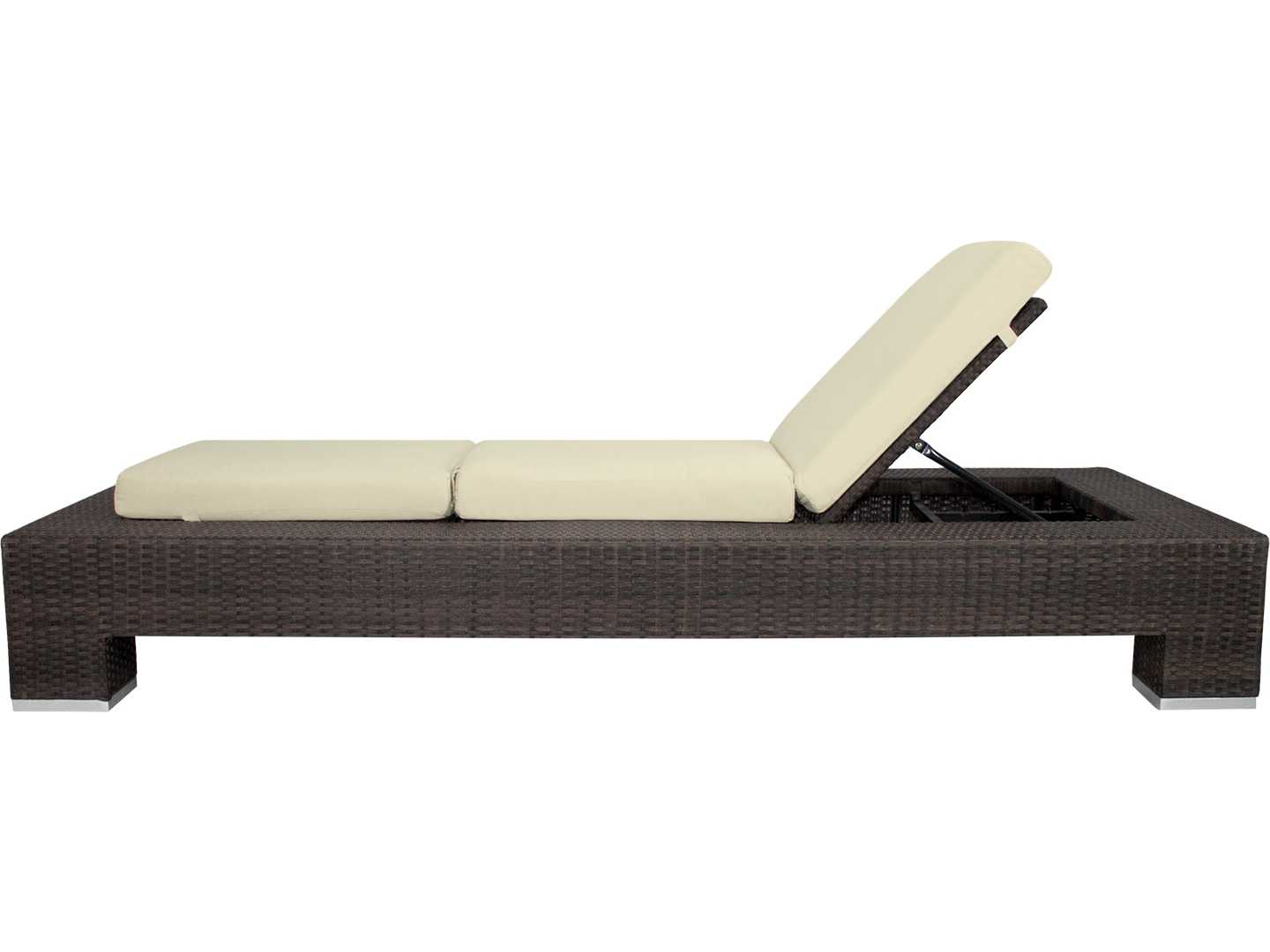 Source outdoor furniture king wicker armless chaise for Source outdoor furniture