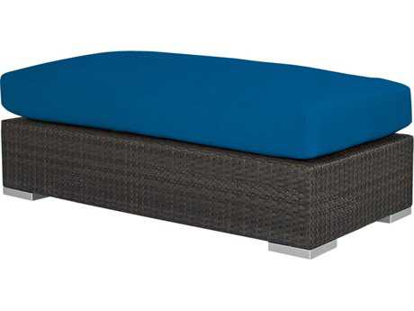Source Outdoor Furniture King Wicker Rectangular Large Ottoman
