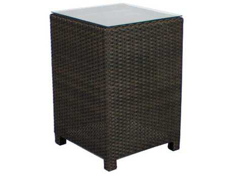 Source Outdoor Furniture King Wicker 17 Square Side Table