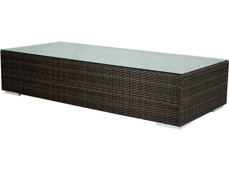 Source Outdoor Furniture King Wicker 63 x 28 Rectangular Coffee Table