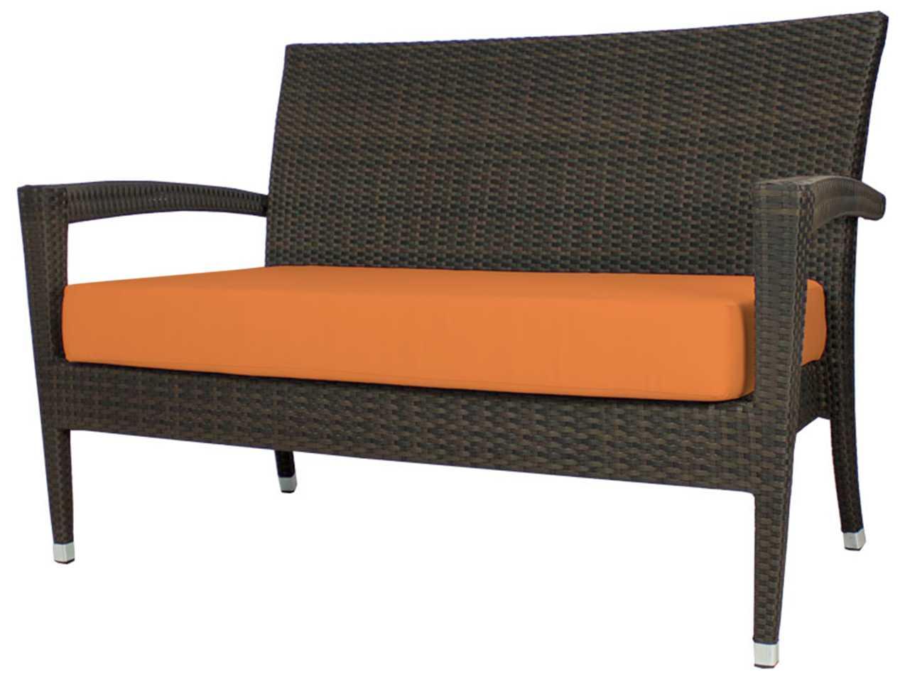 Source outdoor furniture zen wicker loveseat scso2002102 for Source outdoor furniture