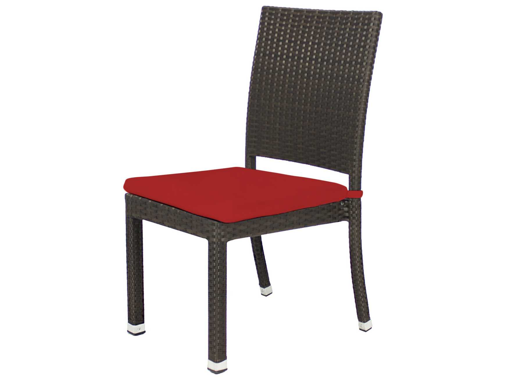 Source Outdoor Furniture Zen Wicker Dining Side Chair So 2002 162