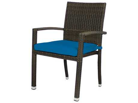 Source Outdoor Furniture Zen Wicker Stackable Dining Arm Chair PatioLiving