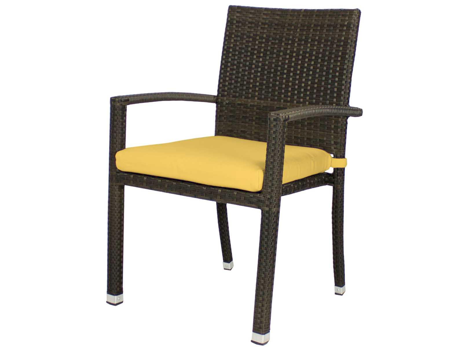 Source outdoor furniture zen wicker dining arm chair so for Source outdoor furniture