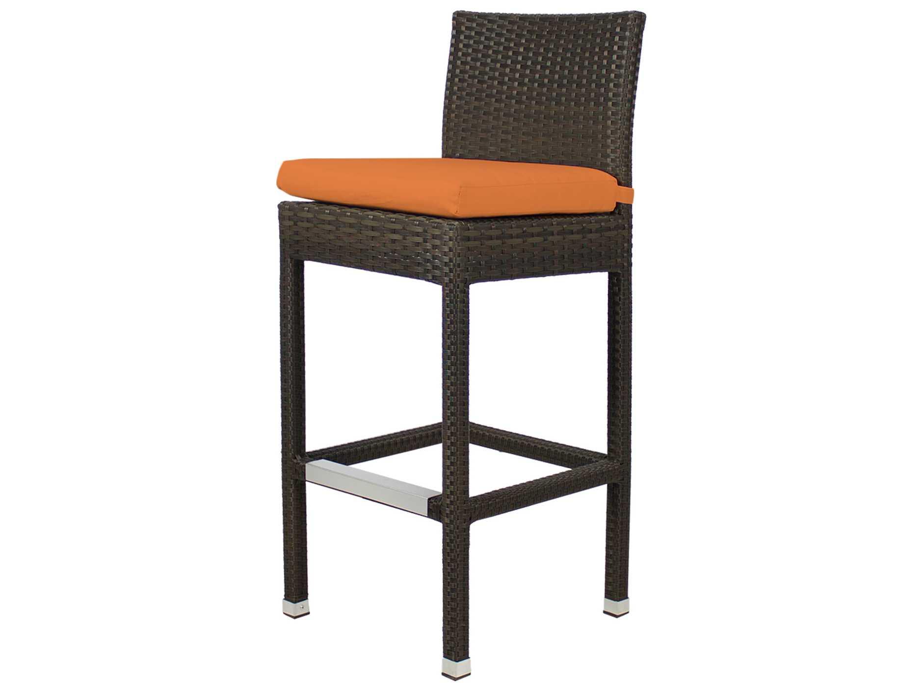 Source outdoor furniture zen wicker bar side chair so for Source outdoor furniture