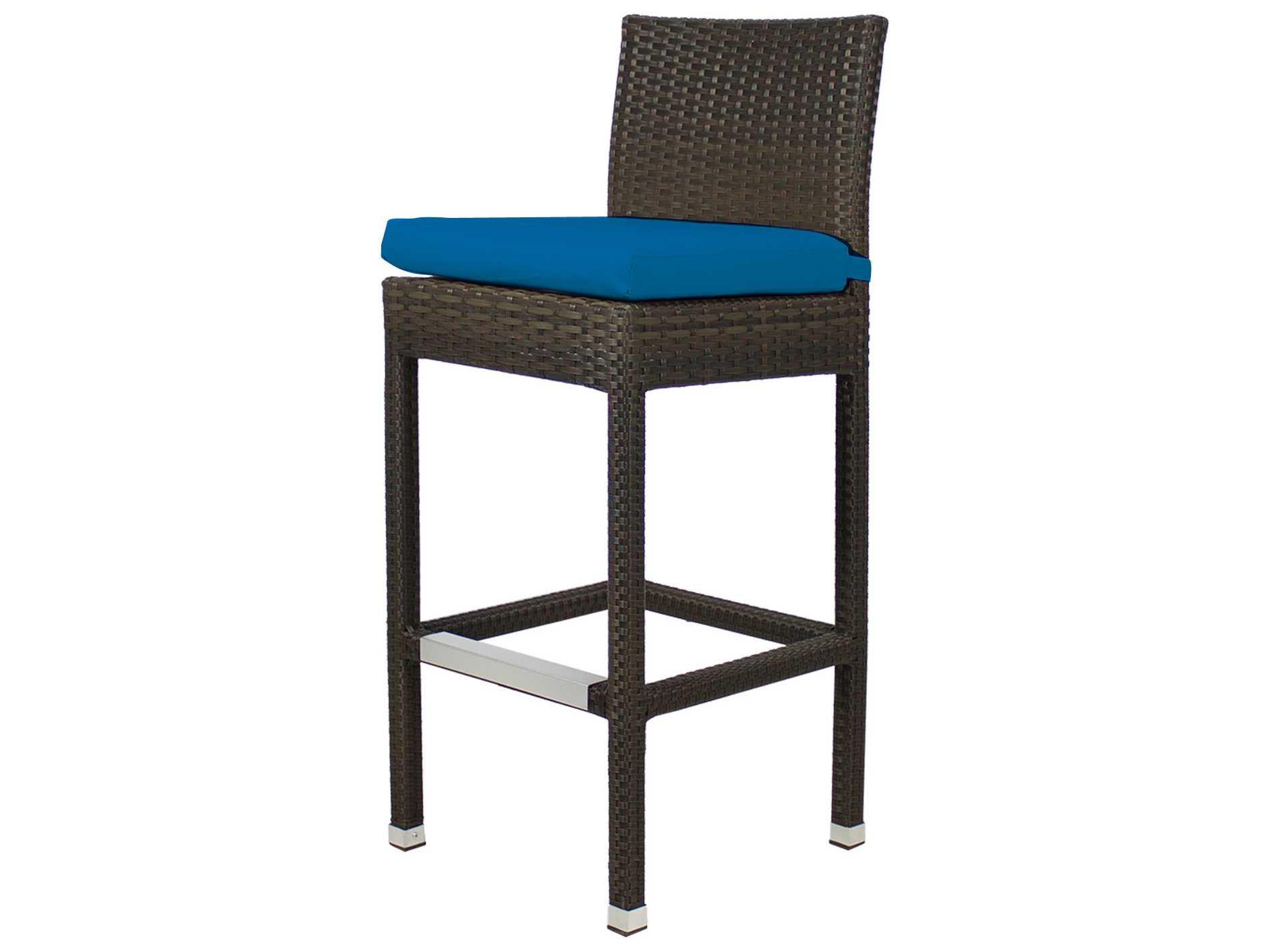 Source outdoor furniture zen wicker bar stool set zenbarset3 for Source outdoor furniture