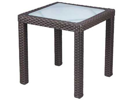 Source Outdoor Furniture Zen Wicker 18 Square Side Table