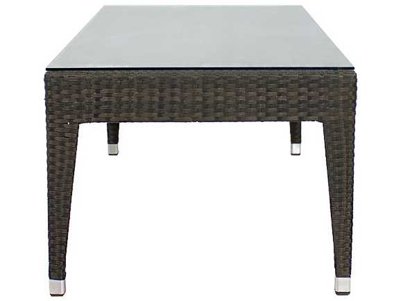 Source Outdoor Furniture Zen Wicker 47 X 24 Rectangular Coffee Table ...