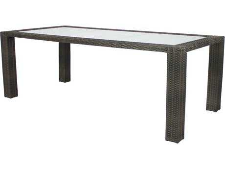 Source Outdoor Furniture Zen Wicker 72 x 40 Rectangular Dining Table
