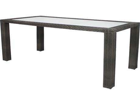 Source Outdoor Furniture Zen Wicker 84 x 40 Rectangular Dining Table