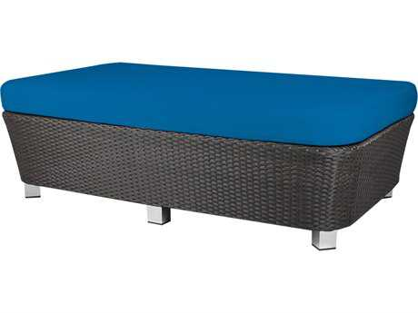 Source Outdoor Furniture St Tropez Wicker Large Ottoman Rectangular