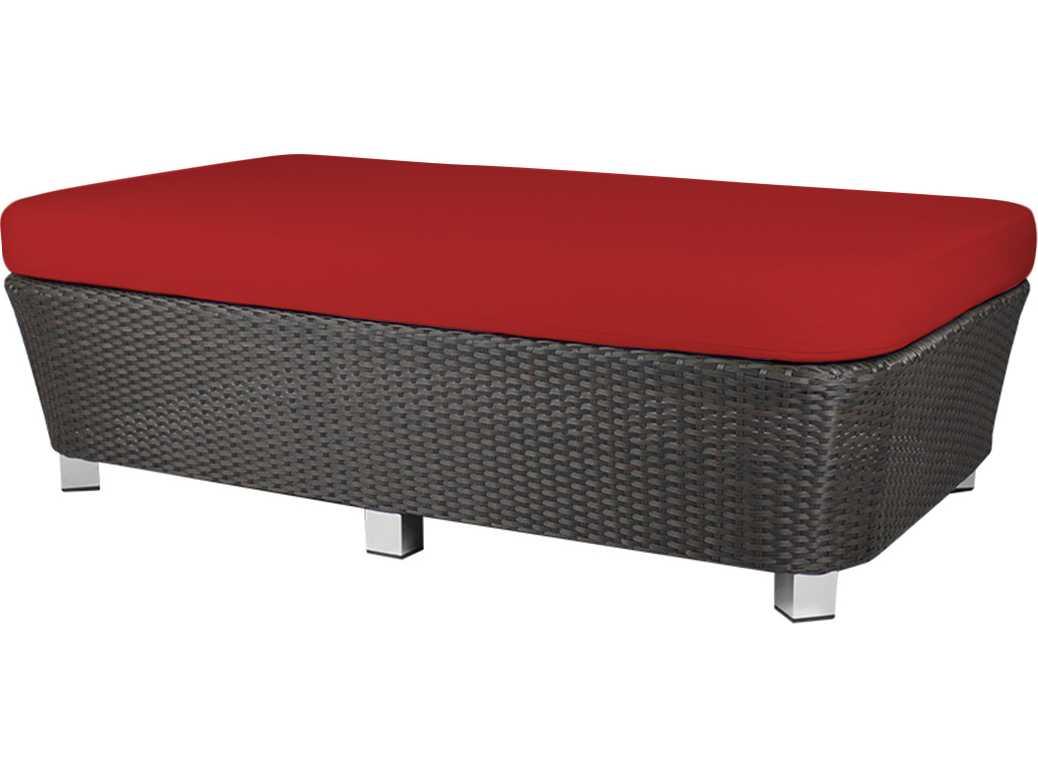 Source outdoor furniture st tropez wicker large ottoman for Source outdoor furniture
