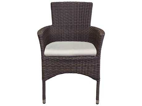 Source Outdoor Furniture St. Tropez Dining Arm Chair Stackable Replacement Cushion