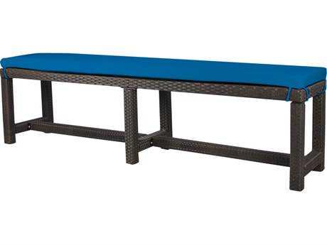 Source Outdoor Furniture St. Tropez Wicker Bench - Seats 4