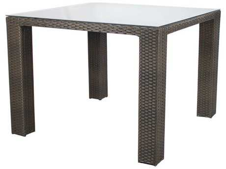 Source Outdoor Furniture St. Tropez Wicker 40 Square Bar Table