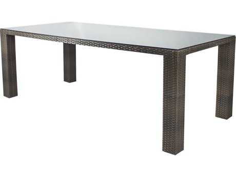 Source Outdoor Furniture St. Tropez Wicker 84 x 40 Rectangular Dining Table