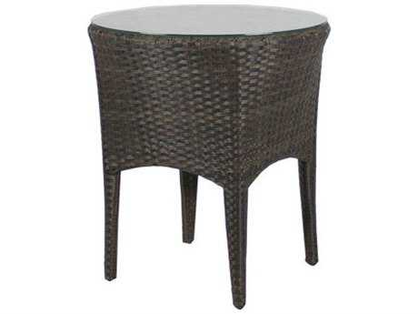Source Outdoor Furniture St. Tropez Wicker 20 Round Side Table