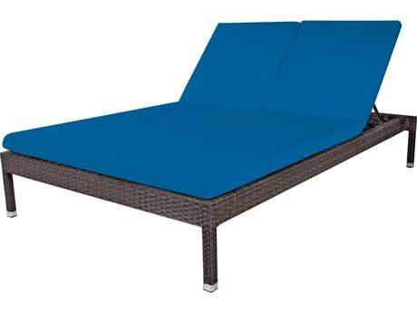 Source Outdoor Furniture Manhattan Wicker  Armless Double Chaise