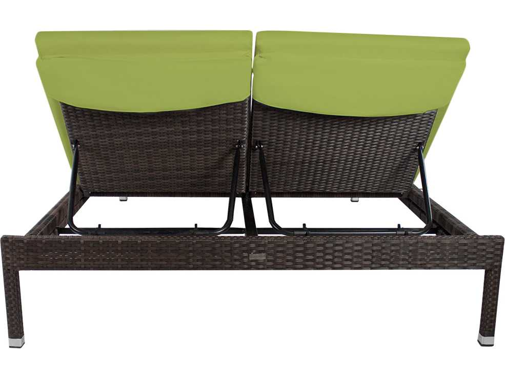 Source Outdoor Furniture Manhattan Wicker Armless Double Chaise SO 2004 135
