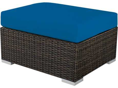 Source Outdoor Furniture Manhattan Wicker Ottoman Square
