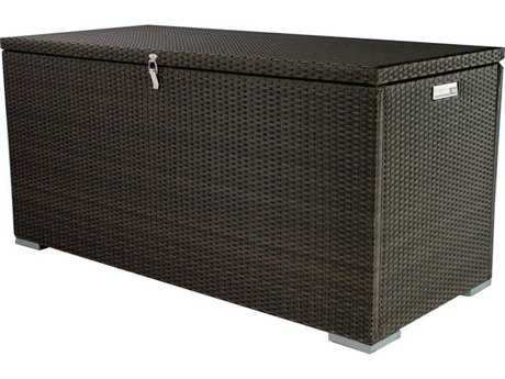 Source Outdoor Furniture Manhattan Rectangular Wicker Cushion Storage Unit