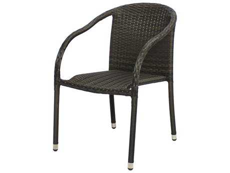 Source Outdoor Furniture Circa Wicker Stackable Dining Chair