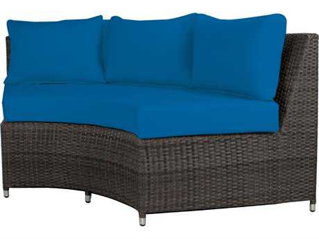Source Outdoor Furniture Wicker Circa 3 Seat Bench Highback