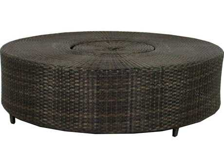 Source Outdoor Furniture Circa Wicker 47 Round Ice Coffee Table