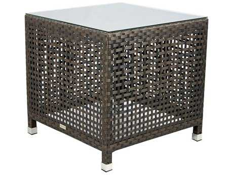 Source Outdoor Furniture Matterhorn Wicker 24 Square End Table