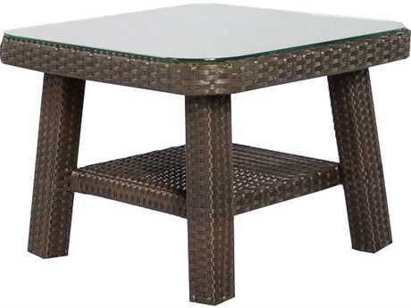 Source Outdoor Furniture Tahiti Wicker 24 Square End Table