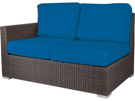 Source Outdoor Furniture Lucaya Wicker Left Arm Loveseat