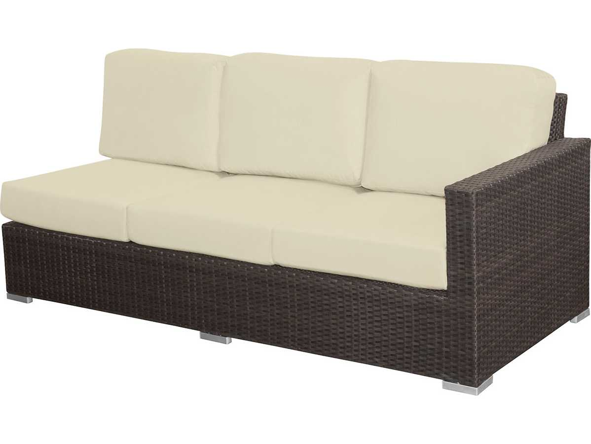 Source outdoor furniture lucaya wicker right arm facing for Source outdoor furniture