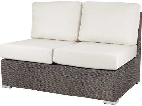 Source Outdoor Furniture Lucaya Wicker Armless Loveseat