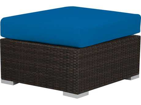 Source Outdoor Furniture Lucaya Wicker Ottoman Rectangular