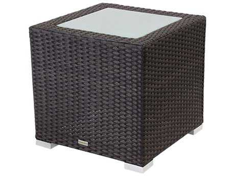 Source Outdoor Furniture Lucaya Wicker 20 Square End Table PatioLiving