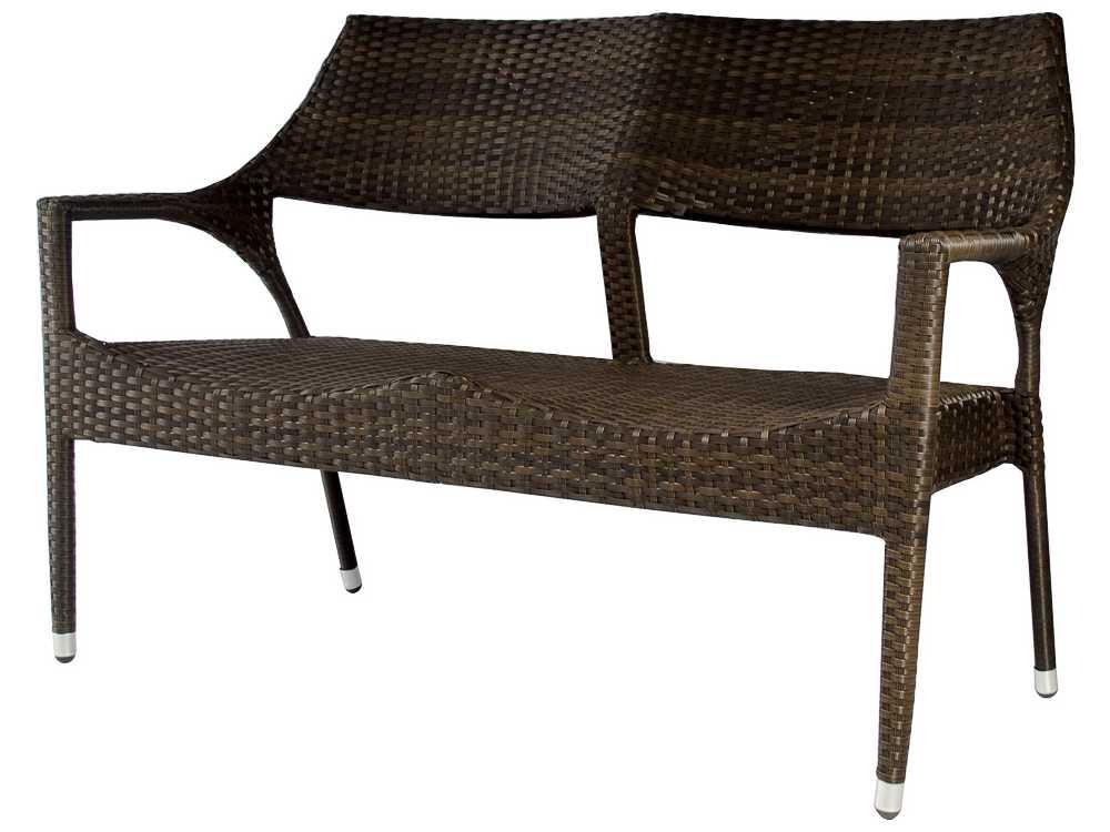 Source outdoor furniture tuscanna wicker loveseat so for Source outdoor furniture