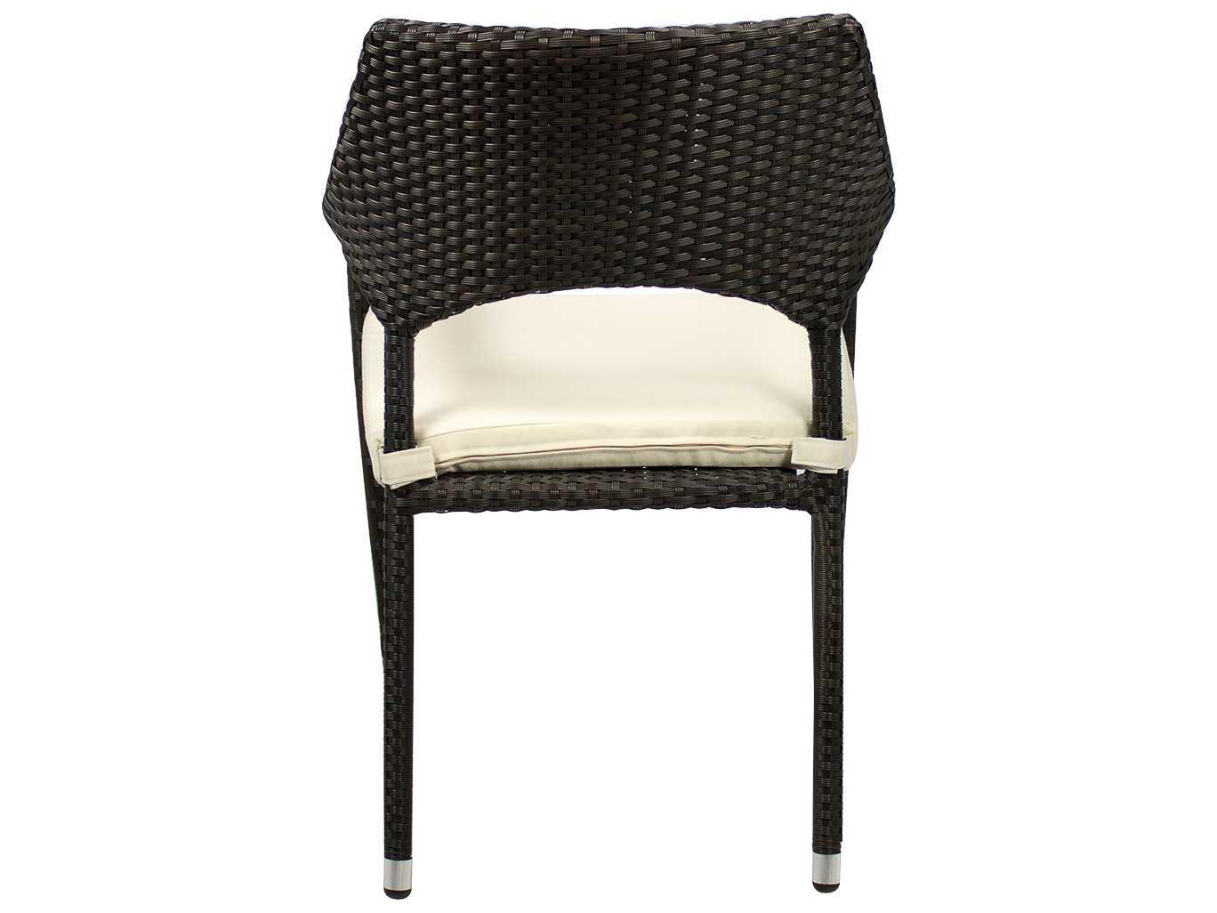 Source outdoor furniture tuscanna wicker dining arm chair for Source outdoor furniture