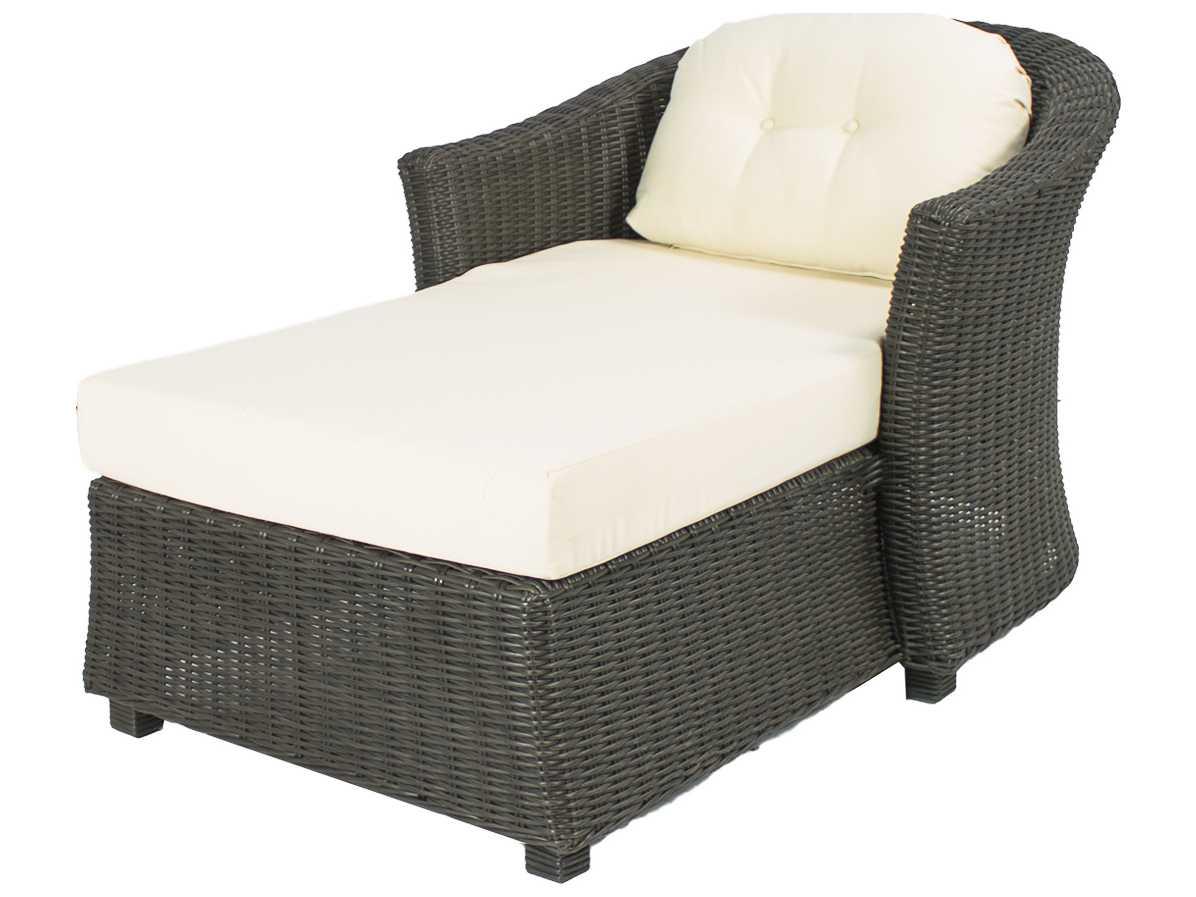 Source outdoor furniture wellington wicker chaise for Outdoor furniture wellington