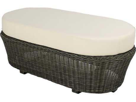 Source outdoor furniture wellington wicker oval ottoman for Outdoor furniture wellington