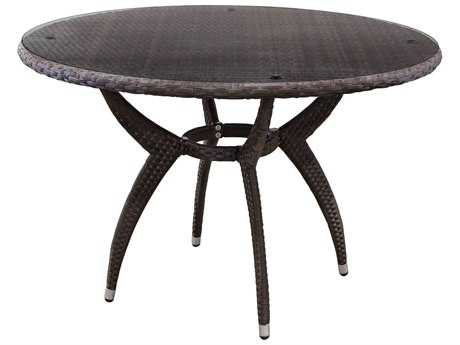 Source Outdoor Furniture Venetian Wicker 54 Round Dining Table SCSO2025325