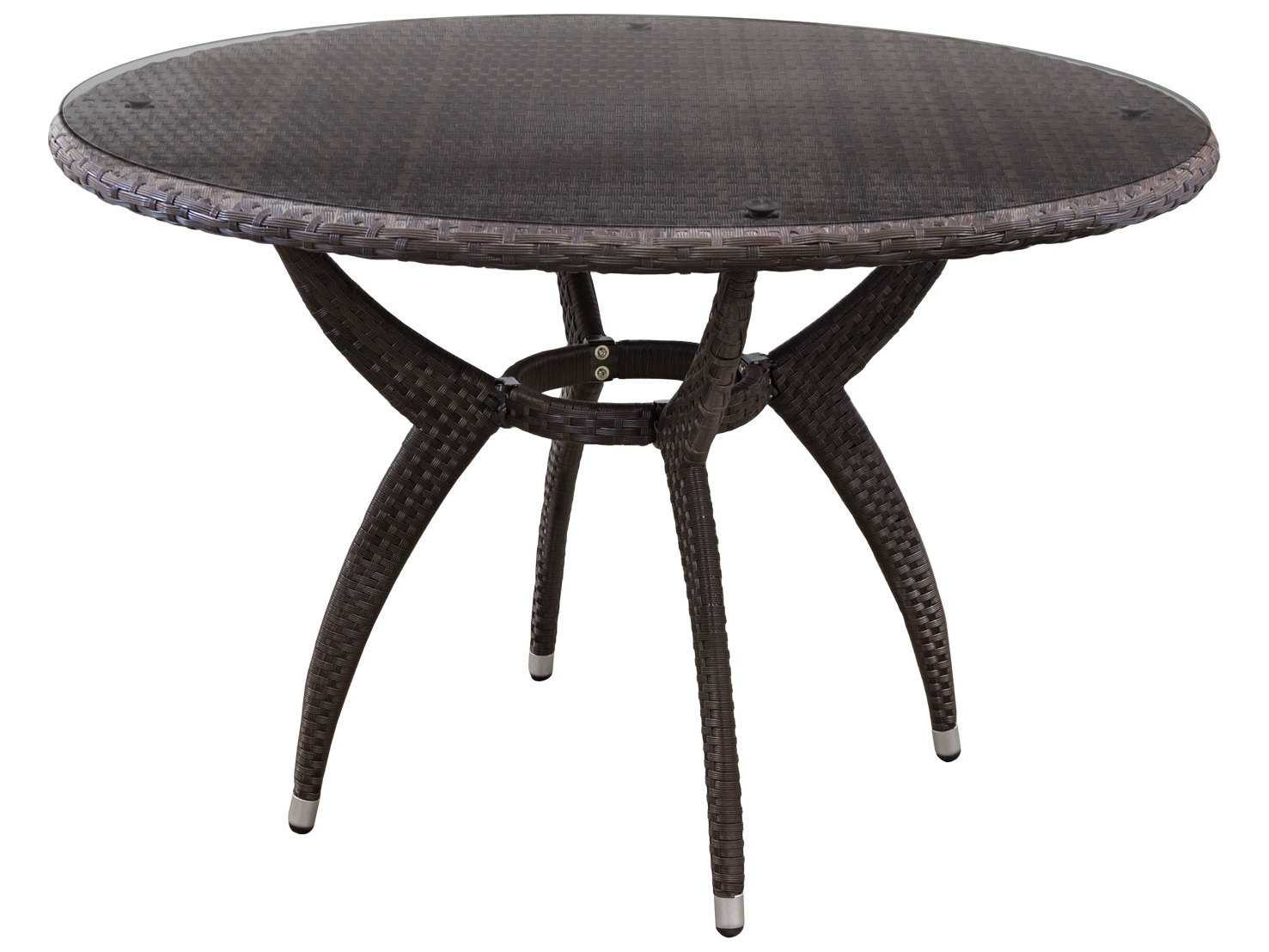 Source outdoor furniture venetian wicker 54 round dining for Source outdoor furniture