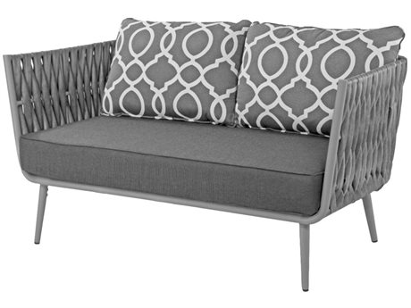 Source Outdoor Furniture Aria Aluminum Cushion Loveseat PatioLiving