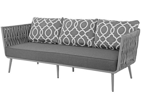 Source Outdoor Furniture Aria Aluminum Cushion Sofa PatioLiving