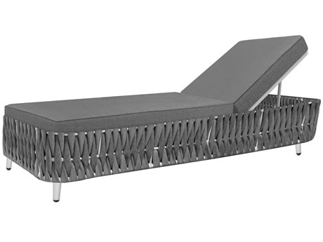 Source Outdoor Furniture Aria Aluminum Cushion Chaise Lounge PatioLiving