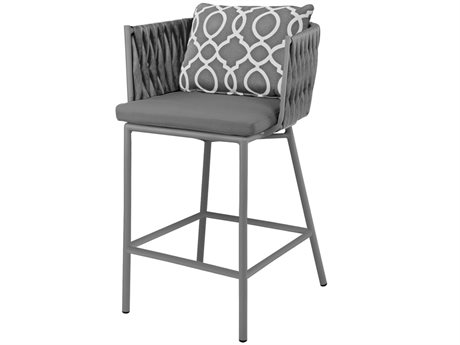 Source Outdoor Furniture Aria Aluminum Cushion Bar Stool