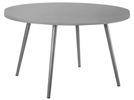 Source Outdoor Furniture Aria 48'' Wide Aluminum Round Dining Table