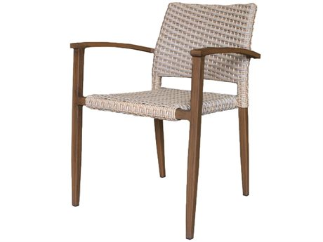 Source Outdoor Furniture Azur Wicker Aluminum Dining Arm Chair PatioLiving
