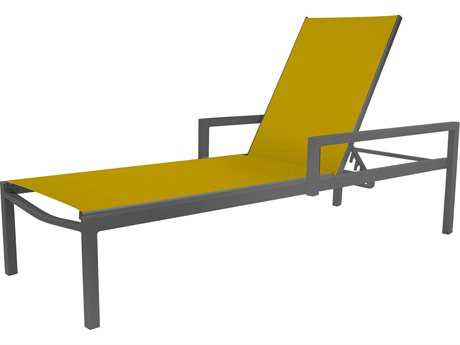 Source Outdoor Furniture Fusion Aluminum Chaise with Arms